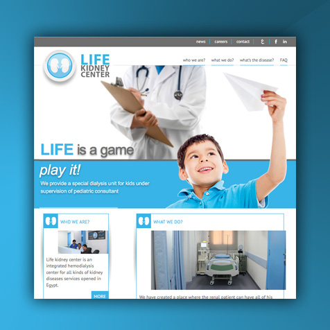 Life Kidney Center Website