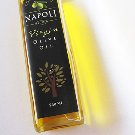 Napoli Virgin Olive Oil packaging